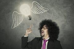 Kreatywnie biznesmen z pomysłem Fotografia Stock