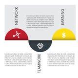 Kreatywnie biznesowy infographic projekt Fotografia Stock