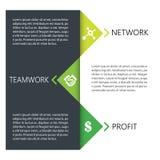 Kreatywnie biznesowy infographic projekt Obrazy Royalty Free