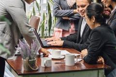 Kreatywnie biznesowy spotkanie w kawiarni Fotografia Stock