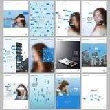 Kreatywnie broszurka szablony z kolorowymi elementami, prostok?ty, gradientowi t?a Pokrywa projekta szablony dla ulotki ilustracji