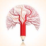Kreatywnie czerwony ołówkowy gałąź zapas   Fotografia Stock