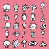Kreatywnie Doodles ikona ilustracja wektor