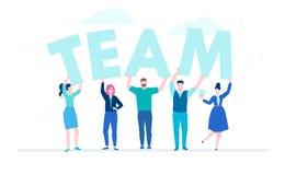Kreatywnie drużyna - płaskiego projekta stylu kolorowa ilustracja Obraz Royalty Free