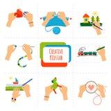 Kreatywnie dzieciak ręki ilustracji