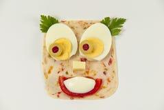 kreatywnie dziecka jedzenie Fotografia Stock
