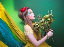 Kreatywnie dziewczyna. Zdjęcie Stock