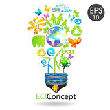 Kreatywnie Eco pojęcie Obrazy Royalty Free