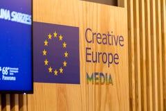 Kreatywnie Europa środki programują przy Berlinale ` s EFM Obrazy Stock