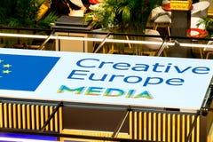 Kreatywnie Europa środki programują sztandar Obraz Stock