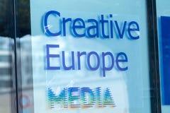 Kreatywnie Europa środki przy Berlinale ` s EFM europejczyka filmem Wprowadzać na rynek Zdjęcie Royalty Free