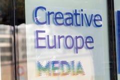 Kreatywnie Europa środki przy Berlinale ` s EFM europejczyka filmem Wprowadzać na rynek Fotografia Stock