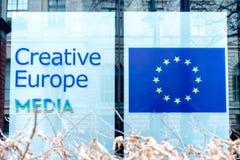 Kreatywnie Europa środki przy Berlinale ` s EFM europejczyka filmem Wprowadzać na rynek Zdjęcie Stock