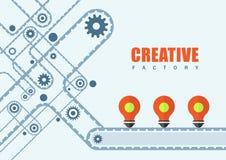 Kreatywnie fabryczny biznesu i edukaci tło ilustracji