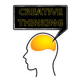 Kreatywnie główkowania mózg Fotografia Stock
