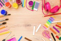 Kreatywnie girly desktop Obrazy Stock