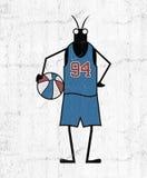Kreatywnie gracza koszykówki insekt Obrazy Royalty Free