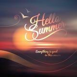Kreatywnie graficzna wiadomość dla twój lato projekta. Zdjęcia Royalty Free