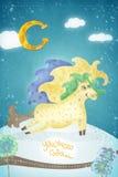 Kreatywnie grafika z koniem Obrazy Royalty Free