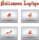 kreatywnie Halloween ikon laptopy Zdjęcia Stock
