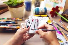 Kreatywnie handmade rzemiosło obraz stock