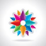 Kreatywnie i colourful abstrakcjonistyczny projekta wektor Zdjęcia Royalty Free
