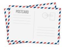 Kreatywnie ilustracja odizolowywająca na przejrzystym tle pocztówka Pocztowy podróży karty sztuki projekt Pusty airmail mockup t royalty ilustracja