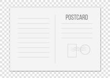 Kreatywnie ilustracja odizolowywająca na przejrzystym tle pocztówka Pocztowy podróży karty sztuki projekt Pusty airmail mockup t ilustracja wektor
