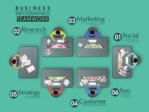 Kreatywnie infographic elementy dla biznesu royalty ilustracja