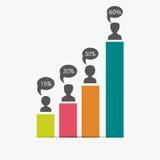 Kreatywnie infographic elementy dla biznesu Obrazy Royalty Free