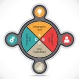 Kreatywnie Infographics Zdjęcia Stock