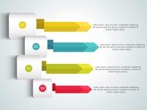 Kreatywnie infographic strzała dla biznesu Obrazy Royalty Free