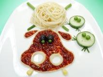 Kreatywnie jarzynowa karmowa obiadowa hipopotam forma Zdjęcia Royalty Free