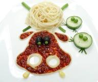 Kreatywnie jarzynowa karmowa obiadowa zwierzę forma Fotografia Stock