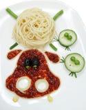 Kreatywnie jarzynowa karmowa obiadowa zwierzę forma Obraz Royalty Free
