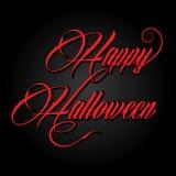 Kreatywnie kaligrafia tekst Szczęśliwy Halloween Obraz Stock