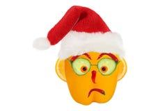 Kreatywnie karmowy pojęcie Śmieszny portret Święty Mikołaj robić f Fotografia Stock