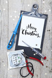 Kreatywnie kartka bożonarodzeniowa dla electrican biznesu Zdjęcia Royalty Free