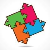 Kreatywnie kolor łamigłówki projekta tło Fotografia Stock