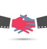 Kreatywnie Kolorowy Biznesowy uścisk dłoni ilustracja wektor