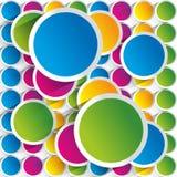 Kreatywnie kolorowy okręgu tło Obraz Stock
