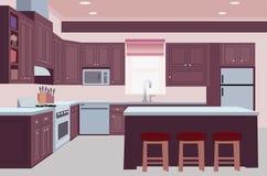 Kreatywnie kuchenna tło projekta ilustracja royalty ilustracja
