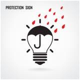 Kreatywnie lampowy ochrony pojęcie i pomysł Zdjęcie Stock
