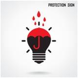 Kreatywnie lampy i ochrony pojęcia tło Obrazy Royalty Free