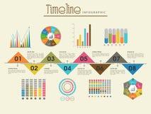Kreatywnie linii czasu szablonu infographic układ royalty ilustracja