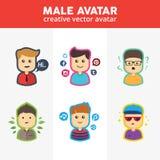 Kreatywnie Męscy Avatars Zdjęcia Stock