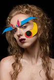 Kreatywnie makeup z kolorowym papierem zdjęcia stock