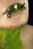 Kreatywnie makro- piękno Zdjęcia Royalty Free