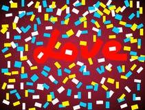Kreatywnie miłości tło, wzór Zdjęcie Stock
