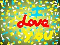 Kreatywnie miłości tło, wzór Obrazy Royalty Free
